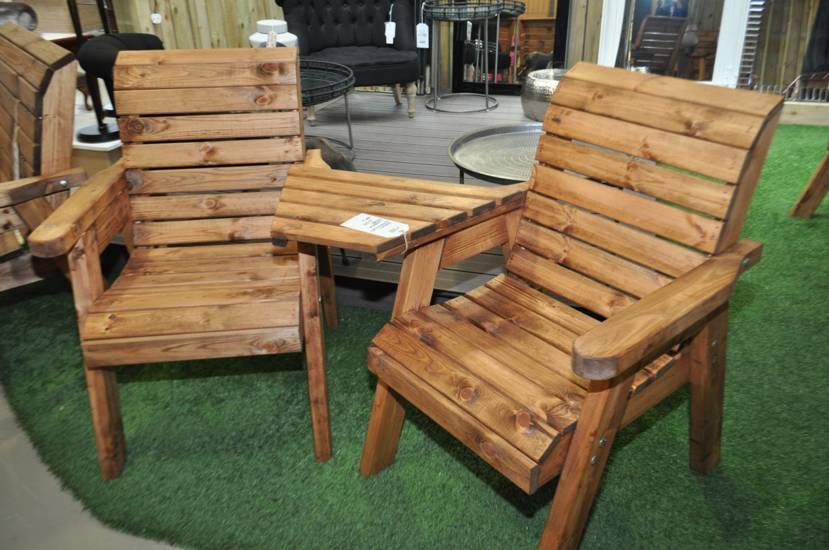 wooden garden furniture chunky-wooden-garden-furniture be close to the nature by using wooden garden QVRTDUC