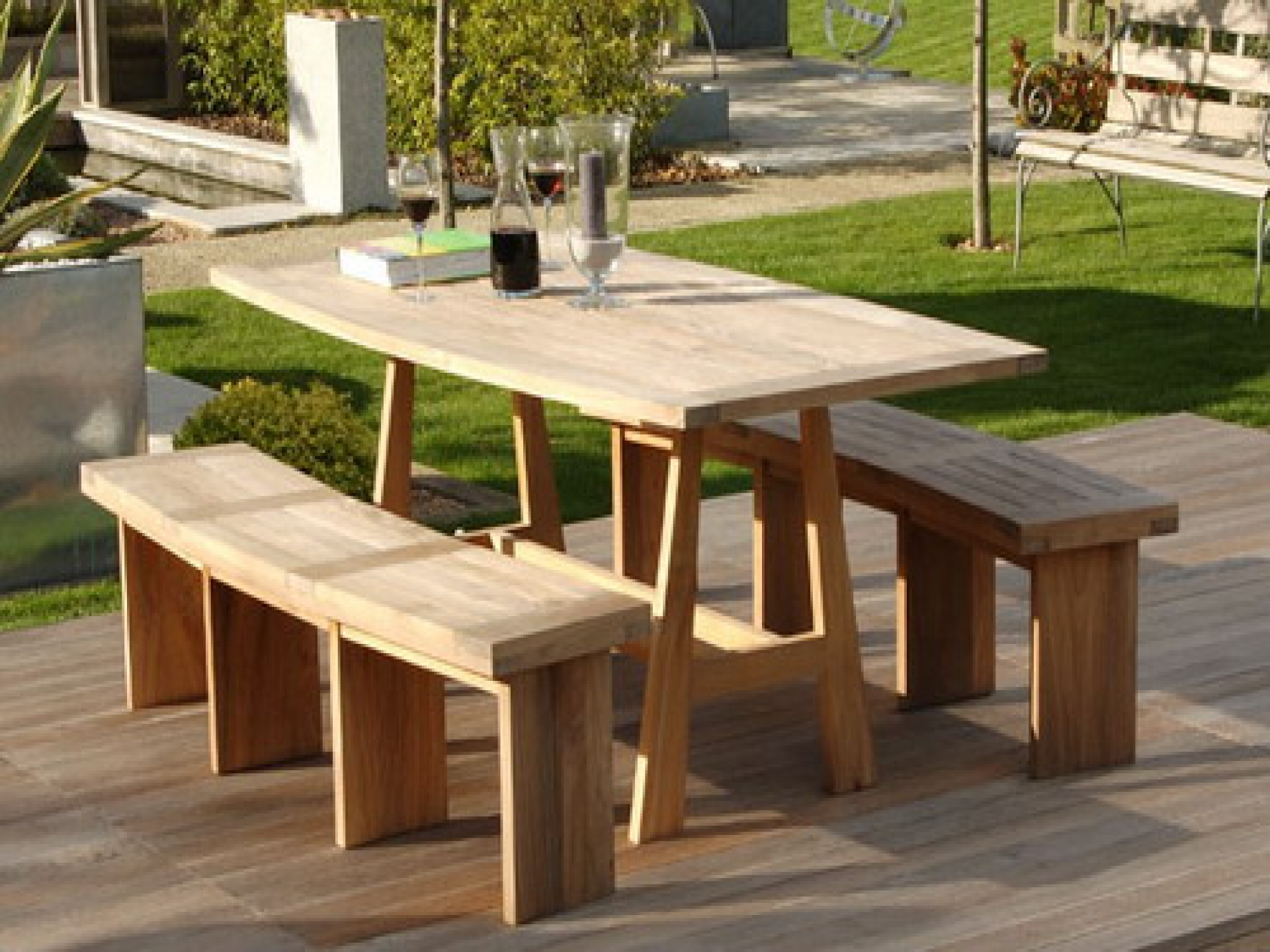 wooden garden furniture pleasant design garden benches home fine decoration patio. round wood  picnic tables UIYKCJS