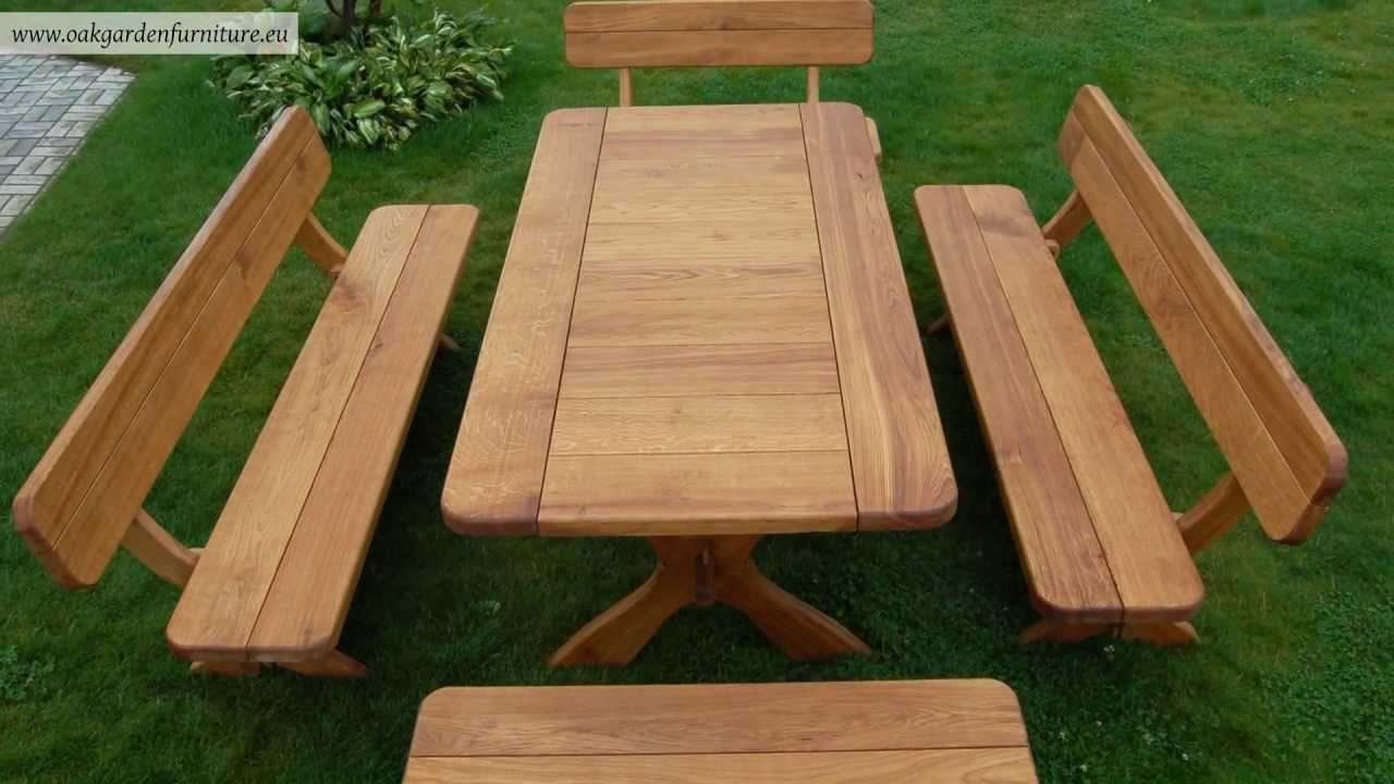 wooden garden furniture set - youtube QXZGVAB