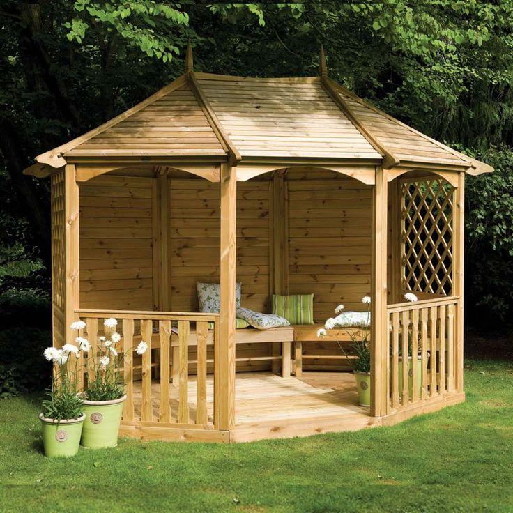 wooden gazebo gazebos with seating | 11u00279 VMEYIRK