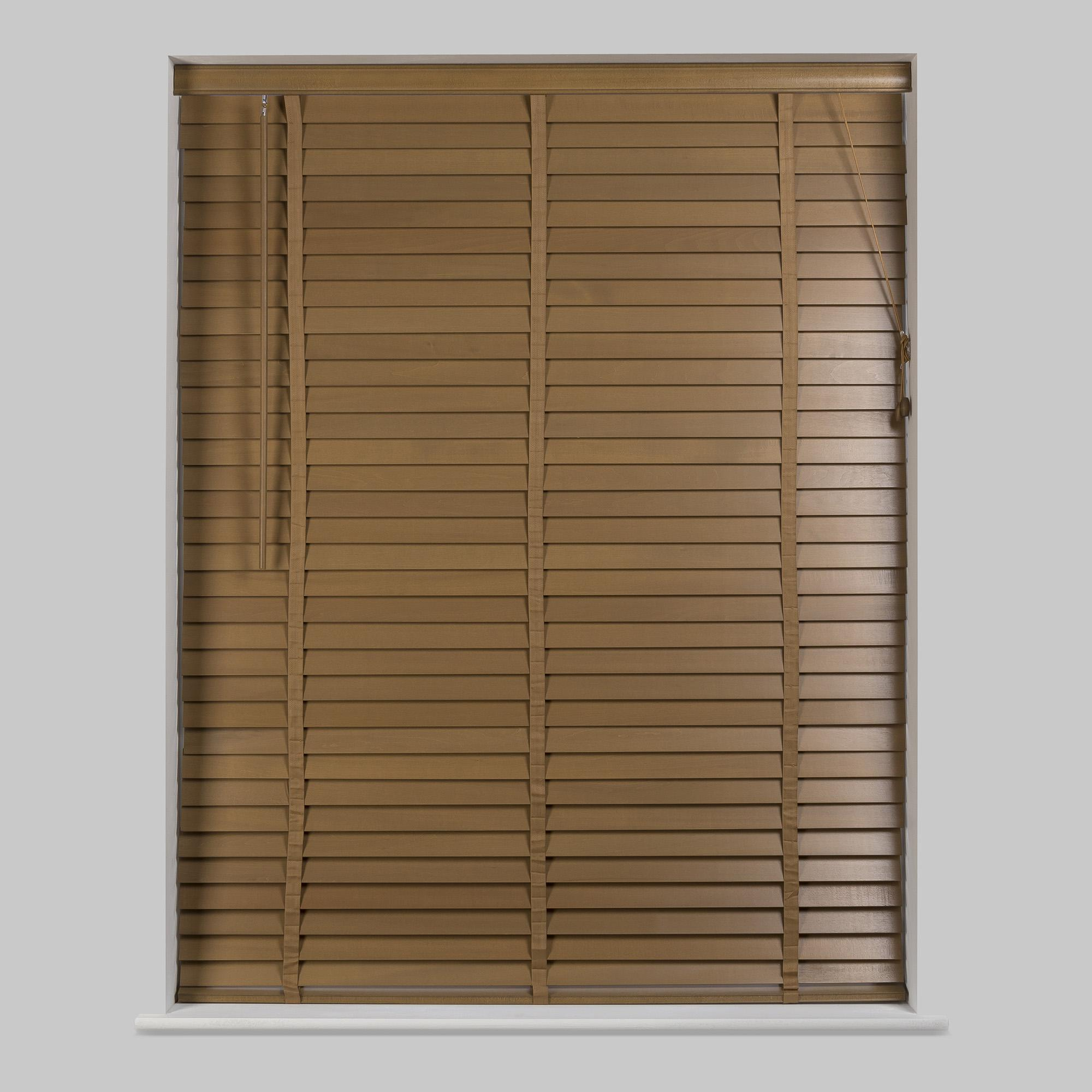 wooden venetian blinds 50mm oak hardwood venetian blind | dunelm YWCVFKJ
