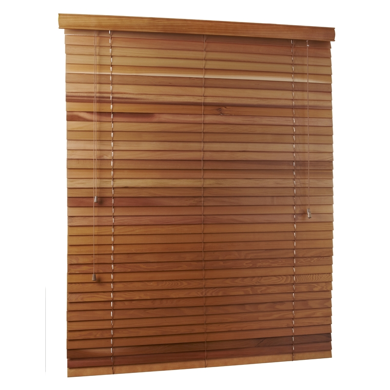 wooden venetian blinds zone interiors 60cm x 150cm x 45mm western red cedar madison venetian blind VPSZTRB