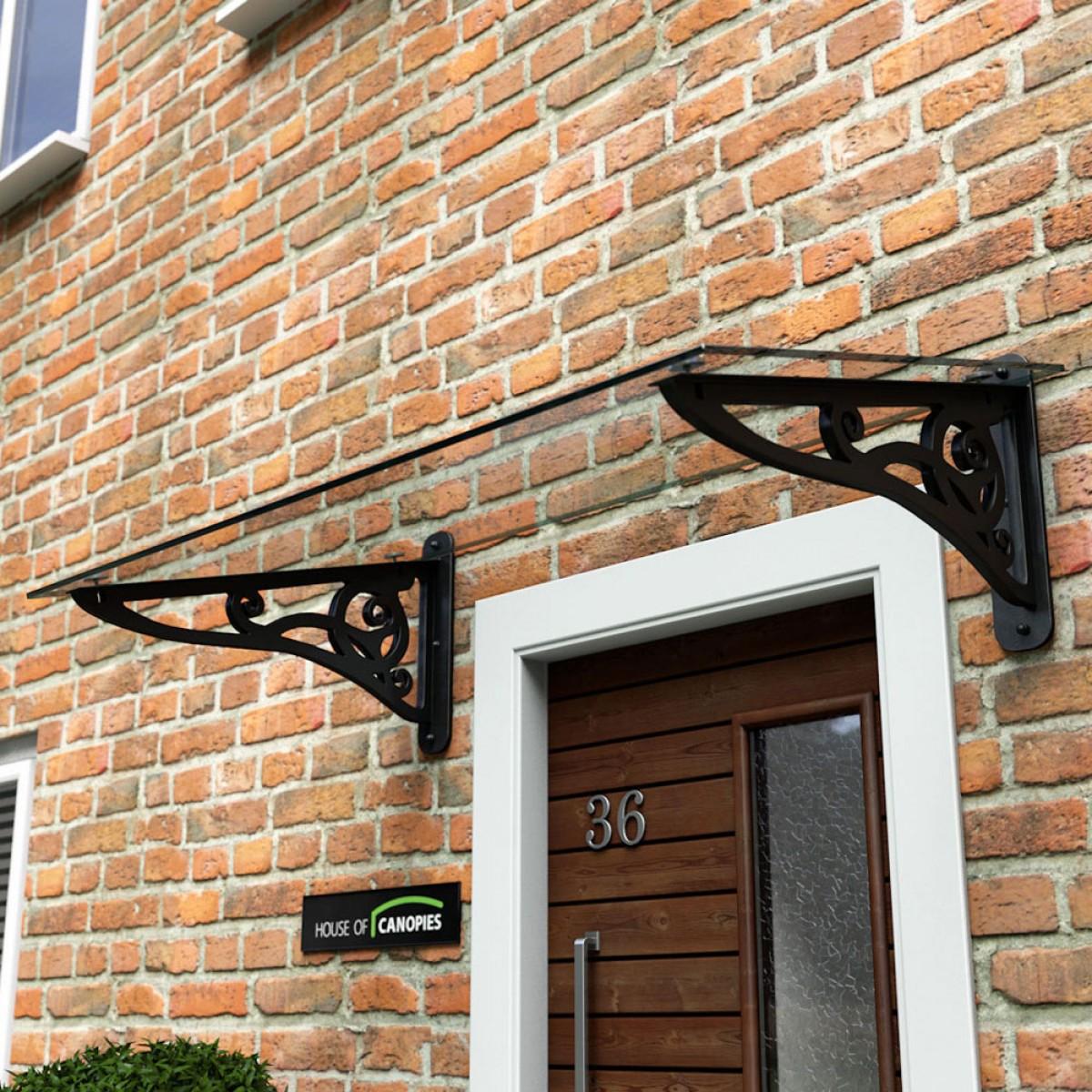 wrought iron effect scroll door canopy u2026 MYLJGMP