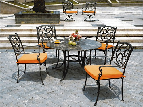wrought iron patio furniture ASYWDAZ