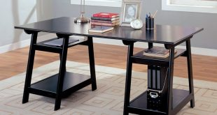... home office desks black ... PDHRBVT