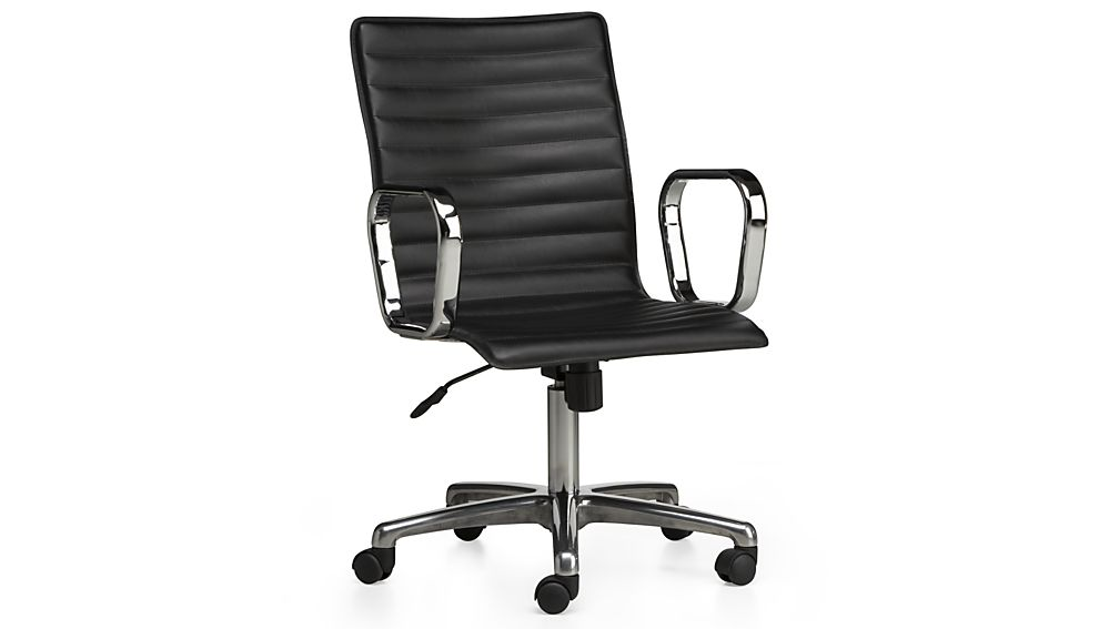 ... ripple black leather office chair ... BLFMGQS