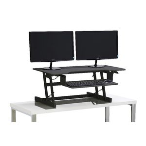... wynston sit stand desk large black JQORKHF