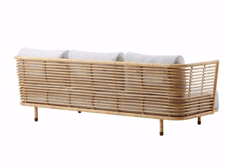3 seater rattan sofa sense | cane-line ECFAOZA