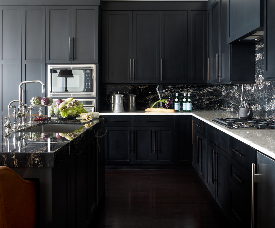 30 best black kitchen cabinets - kitchen design ideas with black cupboards GEJHZCG