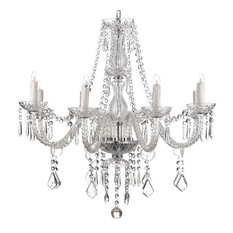 8-light crystal chandelier - chandeliers DRHSDTV