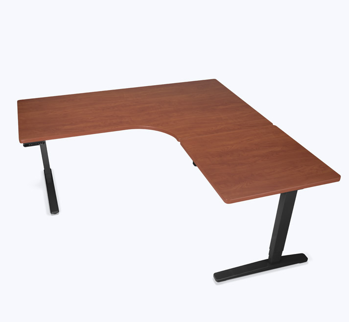 adjustable height desk custom l-shaped height adjustable desk UFGTCVC