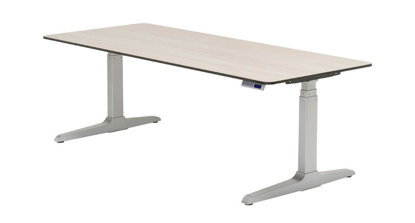 adjustable height desk features a hidden crossbar, giving you more legroom while providing  stability · XDSIAKD