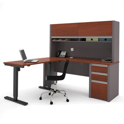 adjustable height desk reversible l-desk with adjustable height return - 71.125 NDMPGHZ