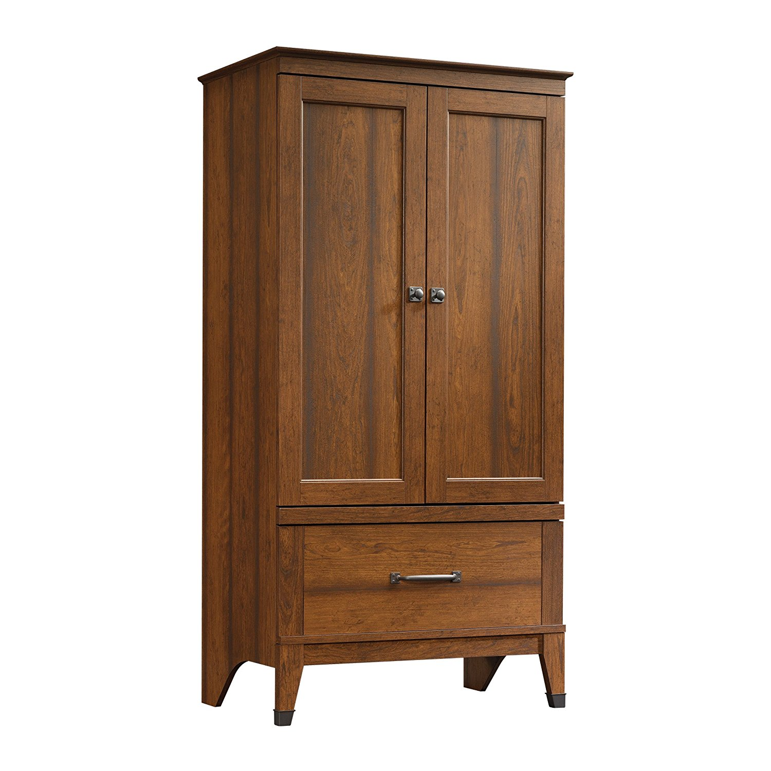 amazon.com: sauder carson forge armoire, washington cherry: kitchen u0026 dining FPTUAYJ