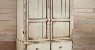 amazon.com: wilshire traditional armoire w drawers u0026 antique white finish:  kitchen u0026 YIIYDLK