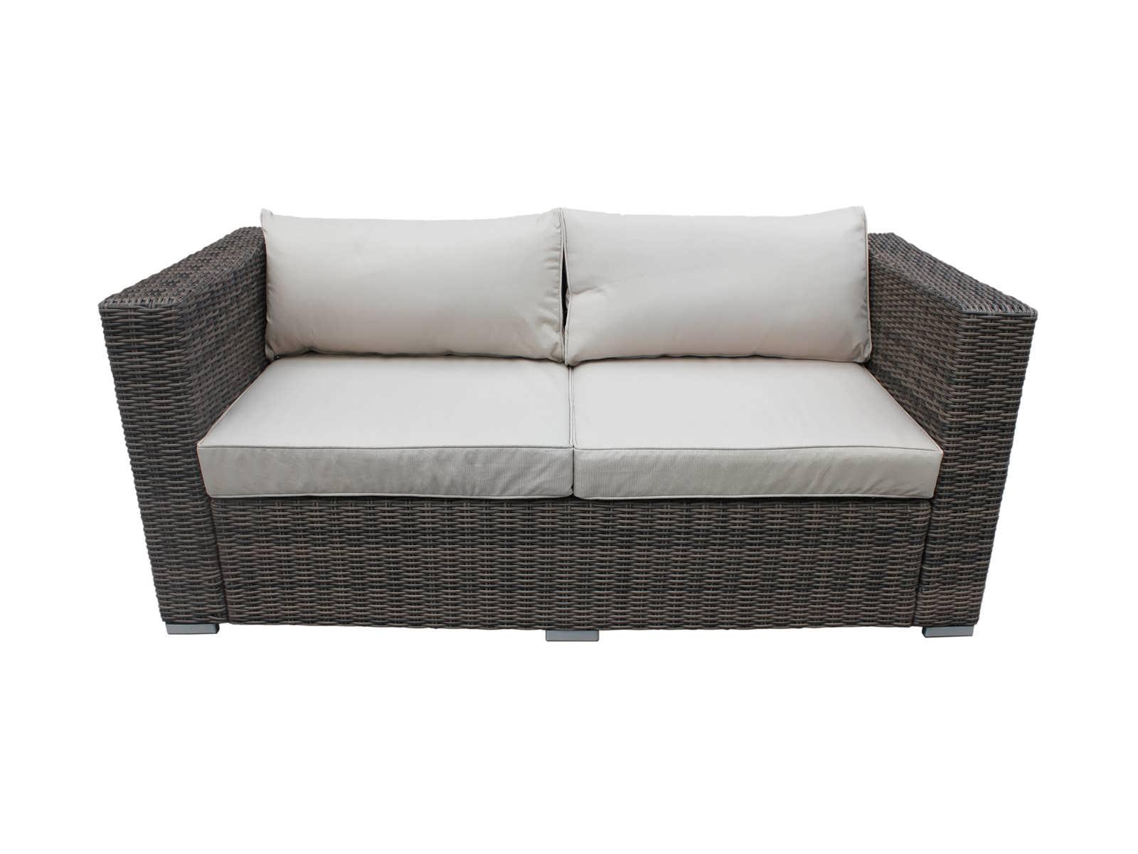 ascot outdoor rattan sofa 2 seat in truffle FLBWJLD