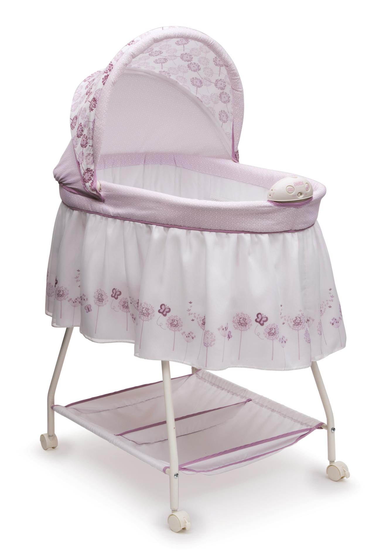 baby bassinet delta children infant girlu0027s sweet beginnings bassinet - floral SMOKTMR
