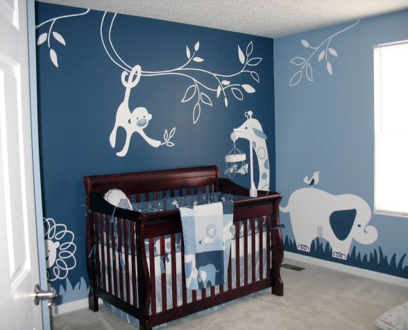 baby boy nursery ideas modern animal theme - nursery designs - decorating ideas - hgtv rate my GENGUNY