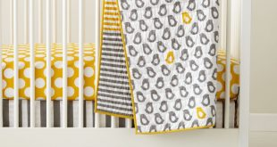 baby crib bedding: baby grey u0026 yellow patterned crib bedding | the land LSCKKDR