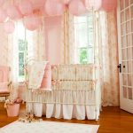 Cute and lively baby girl bedding