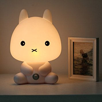 baby night light eonkoo kids led rabbit nightlight cartoon animal desk table bunny lamp night NWNOUTH