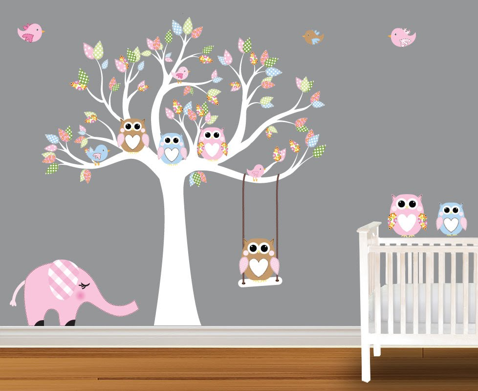 Baby Wall Decals Nursery Birch Trees You Qkidpeb