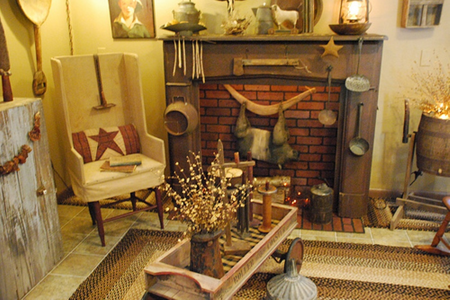 Charming Great Primitive Homes Décor Ideas