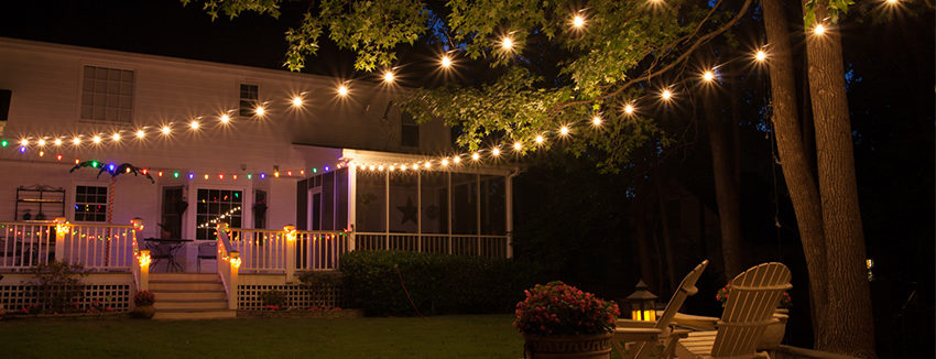 backyard patio lights LXQSOXZ