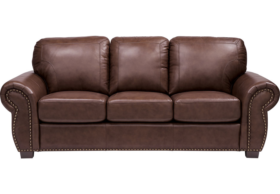 balencia dark brown leather sofa - leather sofas (brown) ENSOAQM
