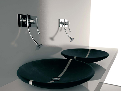 Bathroom fixtures for a designer bathroom