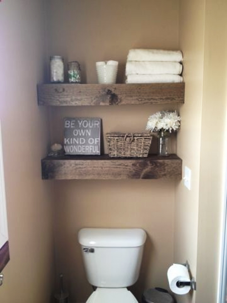 bathroom decor 2. floating pallet shelves for storage and design WAKTSHF