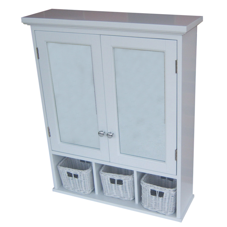 bathroom medicine cabinets allen + roth 24.75-in x 30.25-in rectangle surface mdf medicine cabinet QRSHHLD