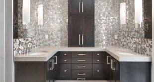 bathroom remodel ideas metal mosaic STDMWGH