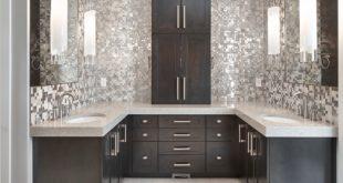 bathroom remodel ideas metal mosaic STDMWGH