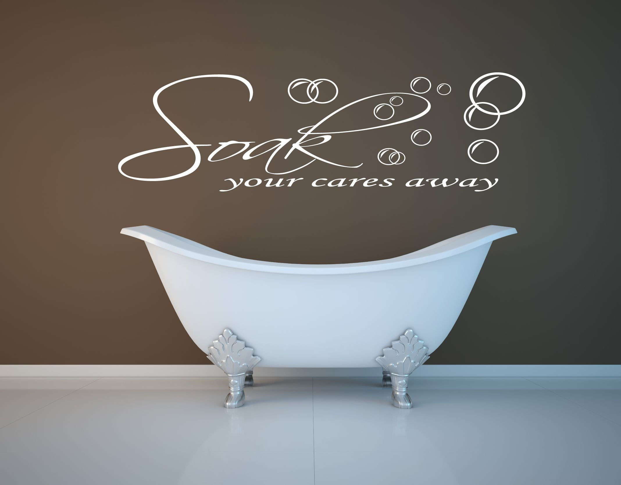 Modern bathroom wall art décor