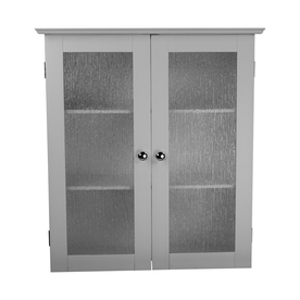 bathroom wall cabinets elegant home fashions connor 22.25-in w x 25-in h x 8- ZJJLCWR
