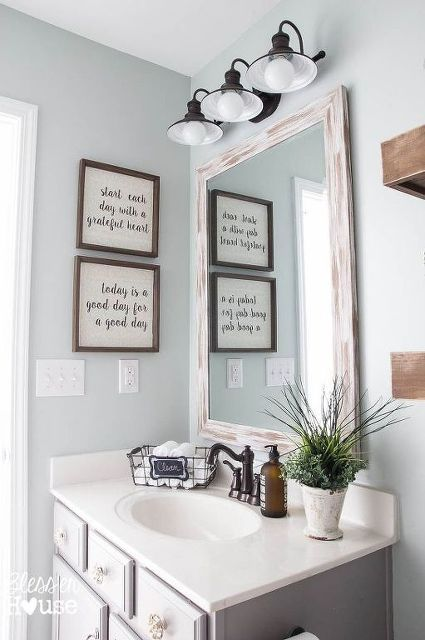 bathroom wall decor make your own farmhouse bathroom...yourself! bathroom wall decorbathroom ... PZVKQVW
