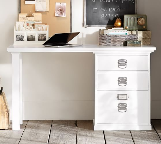 bedford small desk, antique white XINLIWD