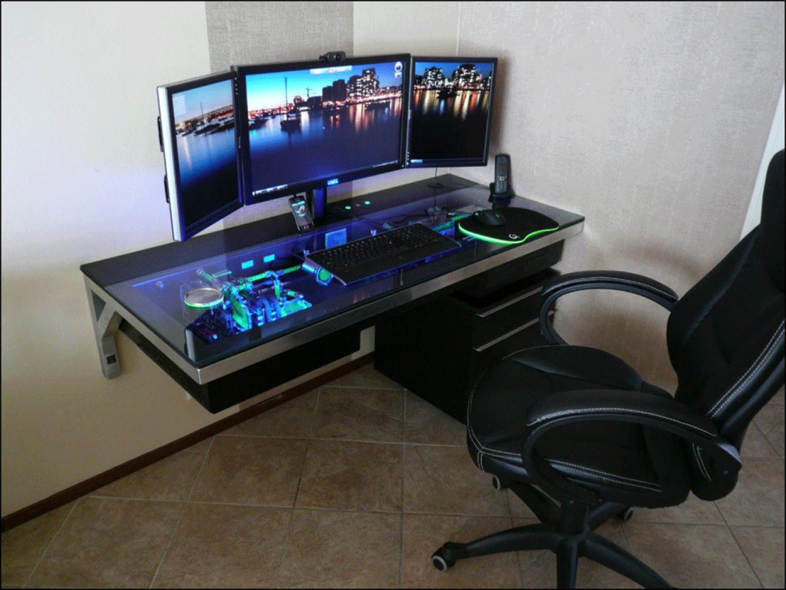 best custom pc gaming computer desk ideas YMADHEI