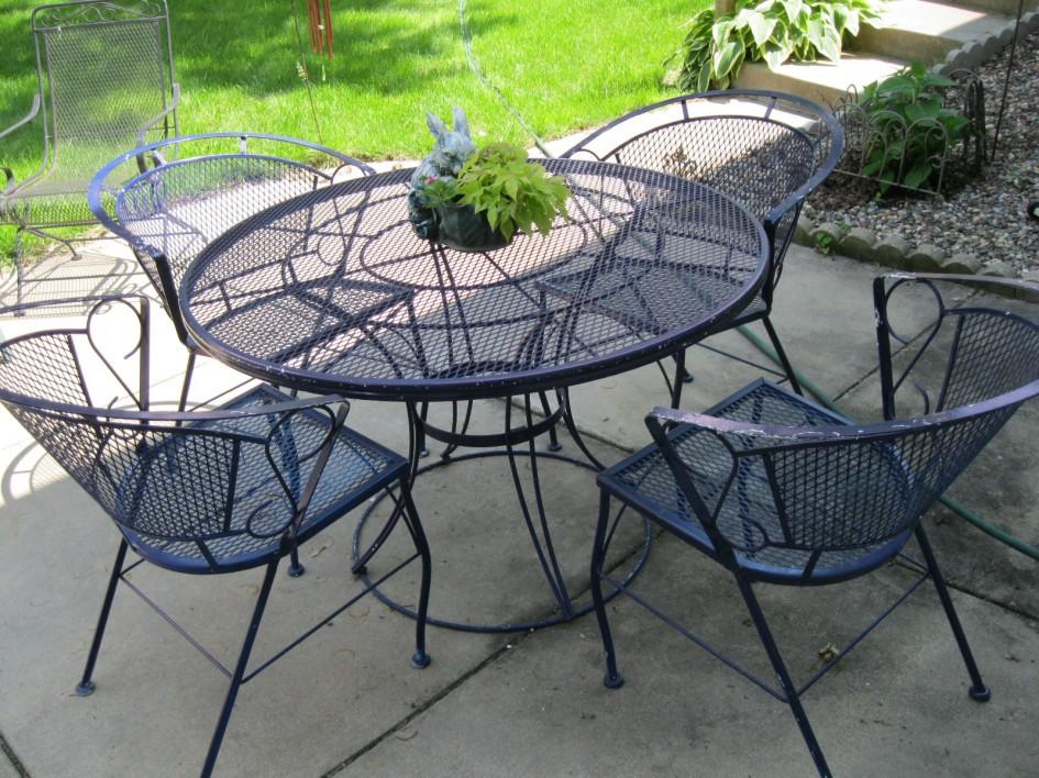 best wrought iron patio furniture sets WNFPWUC
