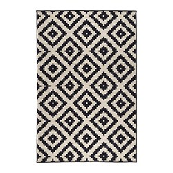 black and white rug lappljung ruta rug, low pile - 6 u0027 7  COUOFIN