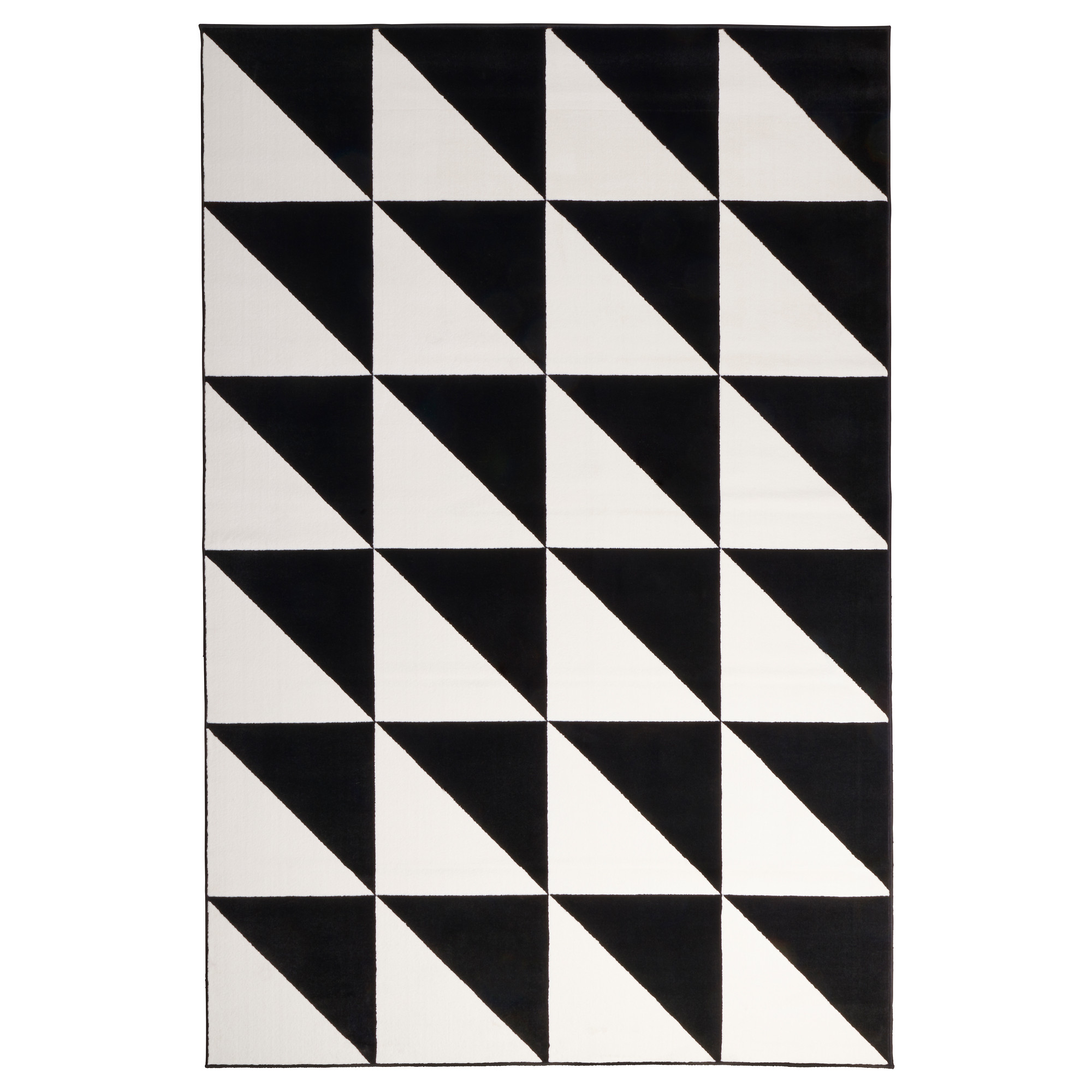 black and white rug sillerup rug, low pile, black/white length: 9 u0027 10  WCREBXJ