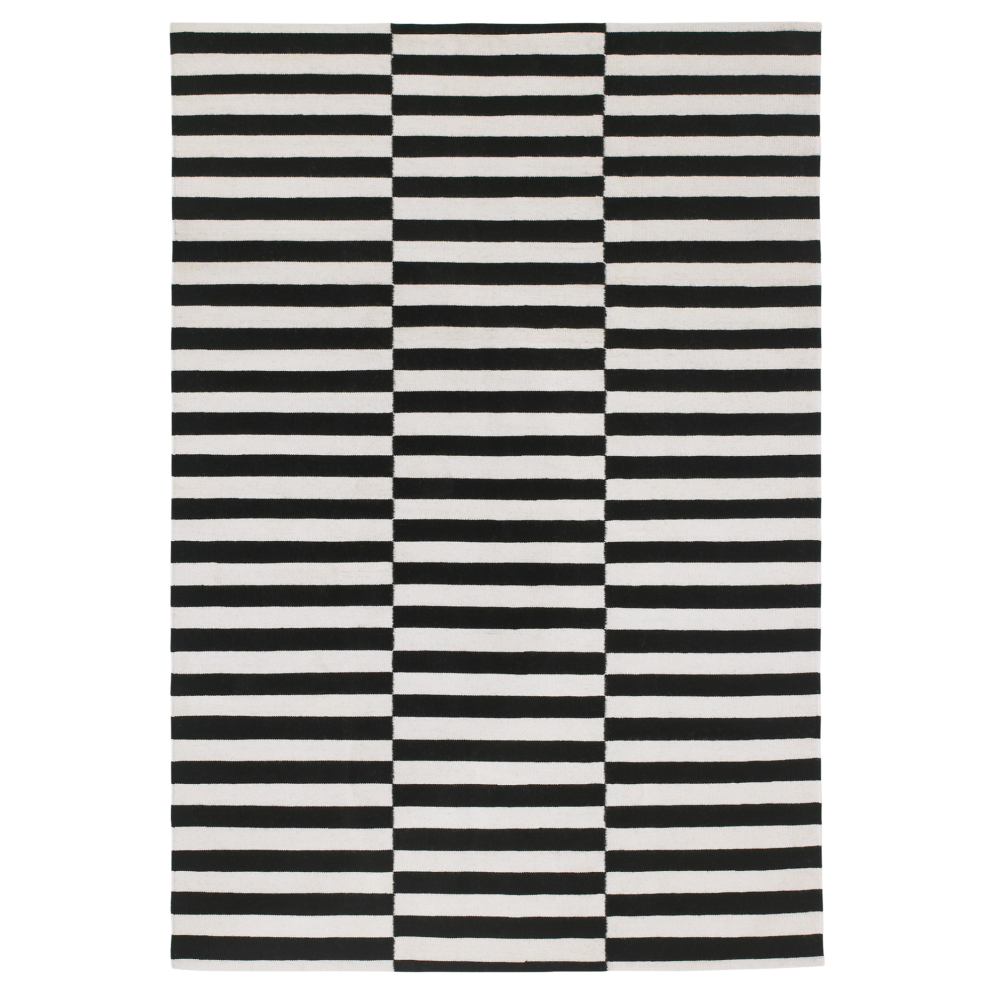 black and white rug stockholm rug, flatwoven, black stripe handmade, stripe off-white black/off ZCENXHM