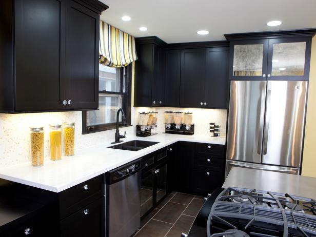 black kitchen cabinets HKTHWGA