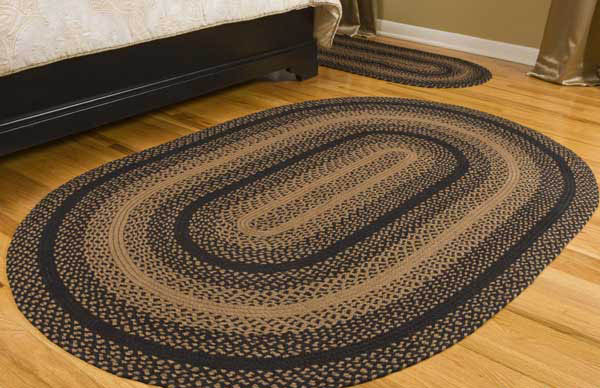 braided rugs ebony jute braided rug WZIBFVO