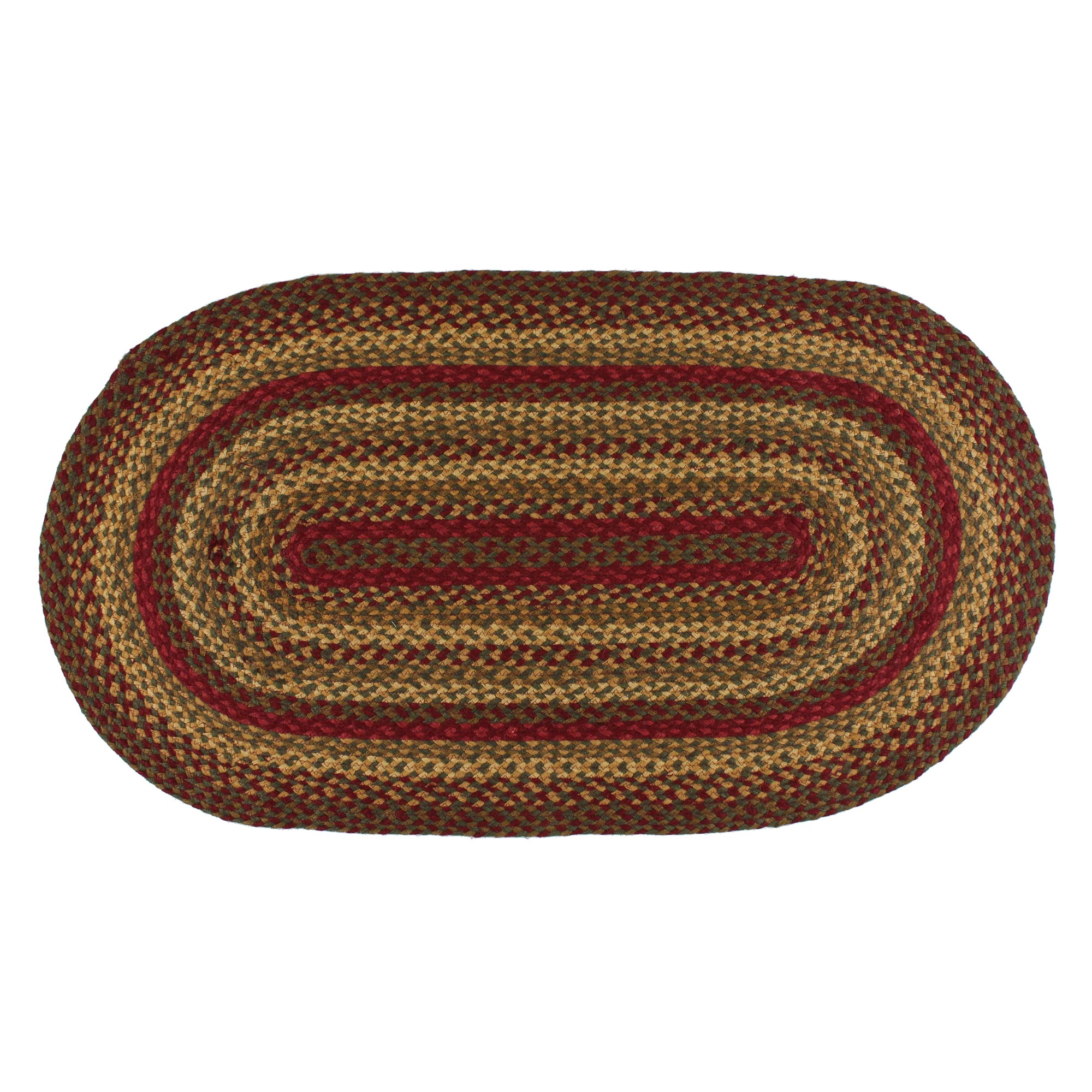 braided rugs red and green braided jute area rug country rustic oval rectangle YRZYRCX