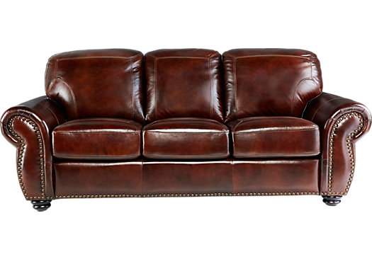 brockett brown leather sofa - classic - traditional, MMEHXDR