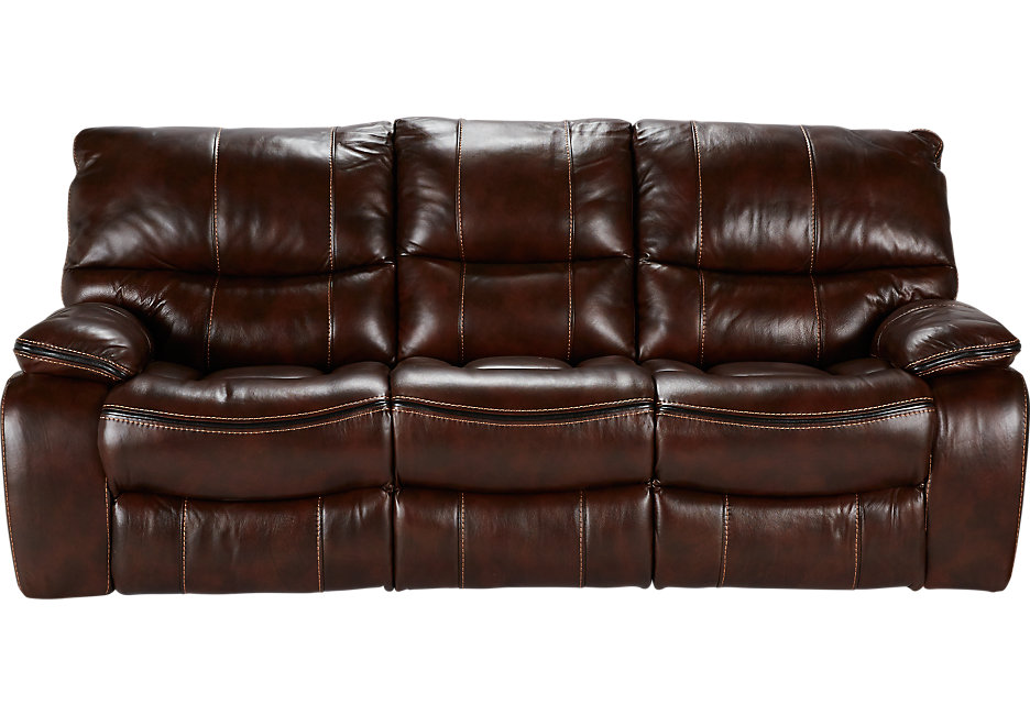 brown leather sofa cindy crawford home gianna brown leather power reclining sofa - leather  sofas RNVNKGK