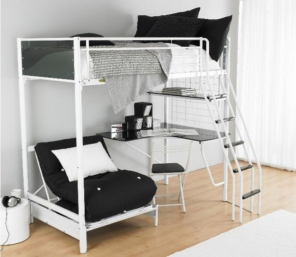 bunk beds with desk girls loft bed with desk | functional teen room furniture ideas - metal LXFRKDW