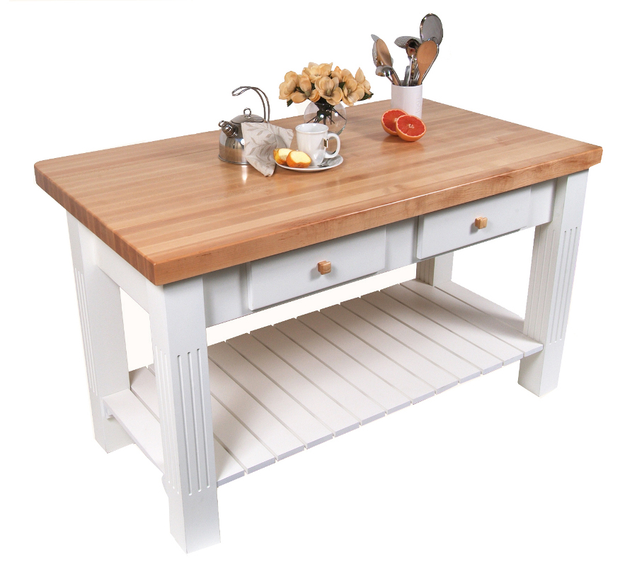 butcher block table boos maple grazzi table with drop leaf - 2-1/4 GJOITWA
